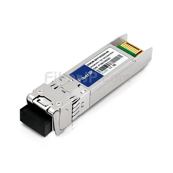Cisco C19 DWDM-SFP10G-62.23対応互換 10G DWDM SFP+モジュール(1562.23nm 80km DOM)の画像