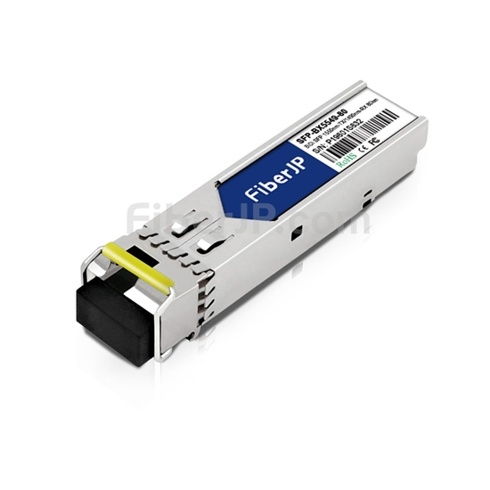 HPE (HP) SFP-1G-BXD-80対応互換 1000BASE-BX BiDi SFPモジュール(1550nm-TX/1490nm-RX 80km DOM)の画像