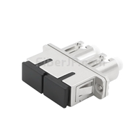 LC-SC ハイブリッド デュプレックス SM/MM 金属製光ファイバアダプター/嵌合スリーブ(メス-メス)の画像