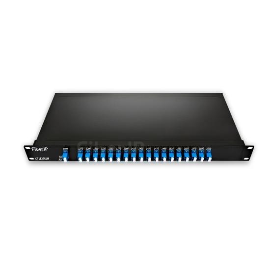 18チャネル 1270-1610nm デュアルファイバ CWDM波長合分波モジュール(モニターポート付き、LC/UPC、FMU 1Uラックマウント)の画像