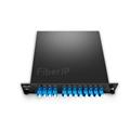 8チャンネル C53-C60 デュアルファイバ DWDM波長合分波モジュール(Mux/Demux、CWDM/DWDMハイブリッドソリューション、モニターポート & 拡張ポート & 1310nmポート付き、FMUプラグインモジュール、LC/UPC)の画像
