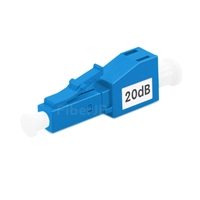LC/UPC シングルモード光固定減衰器(オス-メス、20dB)の画像