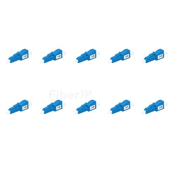 LC/UPC シングルモード光固定減衰器(オス-メス、2dB、10個/パック)の画像