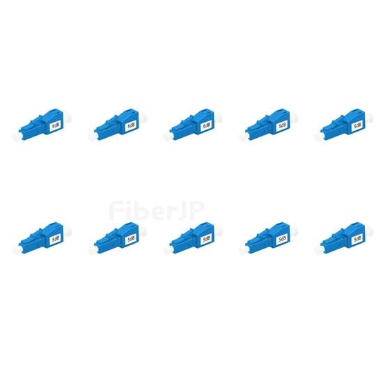 LC/UPC シングルモード光固定減衰器(オス-メス、5dB、10個/パック)の画像