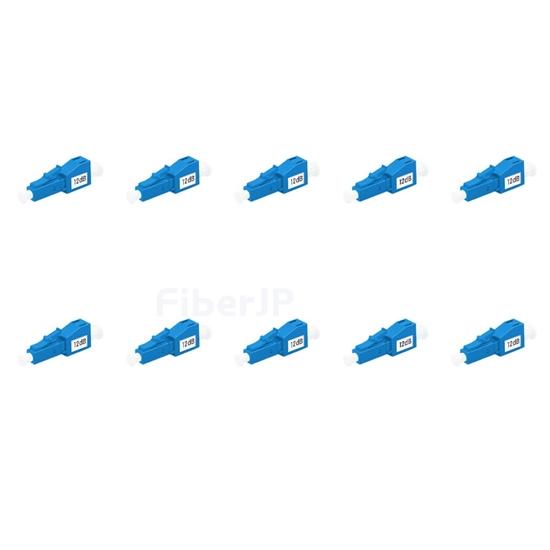 LC/UPC シングルモード光固定減衰器(オス-メス、12dB、10個/パック)の画像