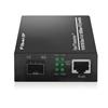 アンマネージド型ギガビットイーサネットメディアコンバーター(1x 10/100/1000Base-T RJ45~1x 1000Base-X SFP、AC 100V~240V)の画像