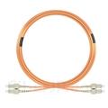 15m SC/UPC-SC/UPC デュプレックス マルチモード 光パッチケーブル(3.0mm PVC/OFNR OM1)の画像