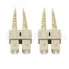 20m SC/UPC-SC/UPC デュプレックス マルチモード 光パッチケーブル(3.0mm PVC/OFNR OM1)の画像
