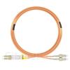 15m LC/UPC-SC/UPC デュプレックス マルチモード 光パッチケーブル(3.0mm PVC/OFNR OM1)の画像