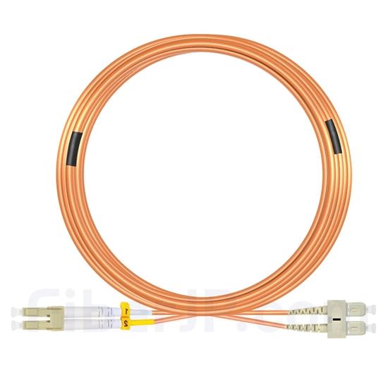 20m LC/UPC-SC/UPC デュプレックス マルチモード 光パッチケーブル(3.0mm PVC/OFNR OM1)の画像