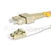 7m LC/UPC-SC/UPC デュプレックス マルチモード 光パッチケーブル(3.0mm PVC/OFNR OM1)の画像