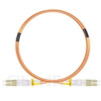 2m LC/UPC-LC/UPC デュプレックス マルチモード 光パッチケーブル(2.0mm PVC/OFNR OM2)の画像