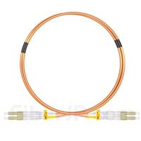 1m LC/UPC-LC/UPC デュプレックス マルチモード 光パッチケーブル(2.0mm PVC/OFNR OM2)の画像