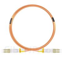 5m LC/UPC-LC/UPC デュプレックス マルチモード 光パッチケーブル(2.0mm PVC/OFNR OM2)の画像