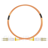 2m LC/UPC-LC/UPC デュプレックス マルチモード 光パッチケーブル(2.0mm LSZH OM2)の画像