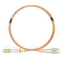 1m LC/UPC-SC/UPC デュプレックス マルチモード 光パッチケーブル(2.0mm LSZH OM2)の画像
