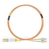 3m LC/UPC-SC/UPC デュプレックス マルチモード 光パッチケーブル(2.0mm LSZH OM2)の画像
