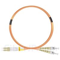 3m LC/UPC-ST/UPC デュプレックス マルチモード 光パッチケーブル(2.0mm LSZH OM2)の画像