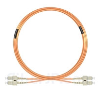 10m SC/UPC-SC/UPC デュプレックス マルチモード 光パッチケーブル(3.0mm PVC/OFNR OM2)の画像