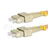 5m SC/UPC-SC/UPC デュプレックス マルチモード 光パッチケーブル(3.0mm PVC/OFNR OM2)の画像