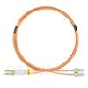 5m LC/UPC-SC/UPC デュプレックス マルチモード 光パッチケーブル(3.0mm PVC/OFNR OM2)の画像