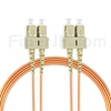 7m SC/UPC-SC/UPC デュプレックス マルチモード 光パッチケーブル(3.0mm PVC/OFNR OM2)の画像