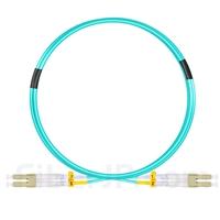 3m LC/UPC-LC/UPC デュプレックス マルチモード 光パッチケーブル(2.0mm PVC/OFNR OM3)の画像