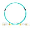1m LC/UPC-LC/UPC デュプレックス マルチモード 光パッチケーブル(2.0mm PVC/OFNR OM3)の画像