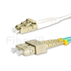 15m LC/UPC-SC/UPC デュプレックス マルチモード 光パッチケーブル(2.0mm PVC/OFNR OM3)の画像