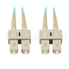 5m SC/UPC-SC/UPC デュプレックス マルチモード 光パッチケーブル(2.0mm PVC/OFNR OM3)の画像