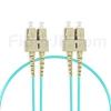 1m SC/UPC-SC/UPC デュプレックス マルチモード 光パッチケーブル(2.0mm PVC/OFNR OM3)の画像