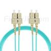 10m SC/UPC-SC/UPC デュプレックス マルチモード 光パッチケーブル(2.0mm PVC/OFNR OM3)の画像