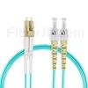 5m LC/UPC-ST/UPC デュプレックス マルチモード 光パッチケーブル(2.0mm PVC/OFNR OM3)の画像