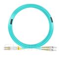 20m LC/UPC-ST/UPC デュプレックス マルチモード 光パッチケーブル(2.0mm PVC/OFNR OM3)の画像