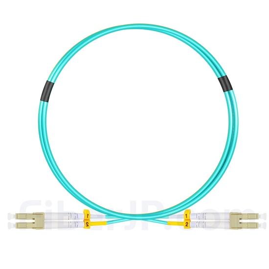 1m LC/UPC-LC/UPC デュプレックス マルチモード 光パッチケーブル(2.0mm LSZH OM3)の画像