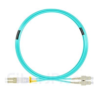 7m LC/UPC-SC/UPC デュプレックス マルチモード 光パッチケーブル(2.0mm OFNP OM3)