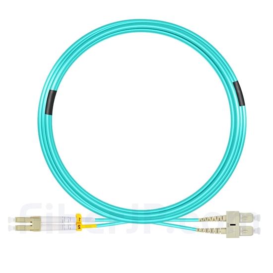 15m LC/UPC-SC/UPC デュプレックス マルチモード 光パッチケーブル(2.0mm LSZH OM4)の画像