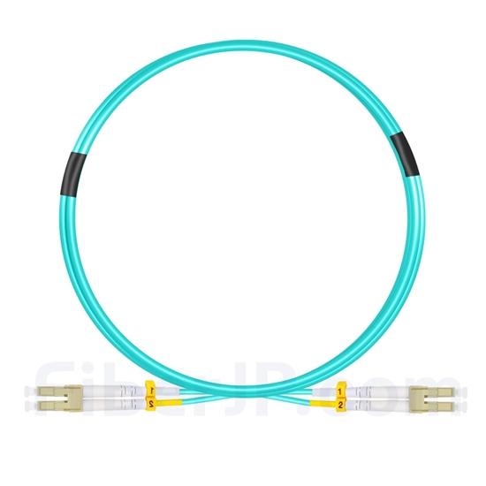 2m LC/UPC-LC/UPC デュプレックス マルチモード 光パッチケーブル(2.0mm OFNP OM4)の画像