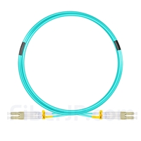 5m LC/UPC-LC/UPC デュプレックス マルチモード 光パッチケーブル(2.0mm OFNP OM4)の画像