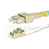 3m LC/UPC-SC/UPC デュプレックス マルチモード 光パッチケーブル(2.0mm OFNP OM4)の画像