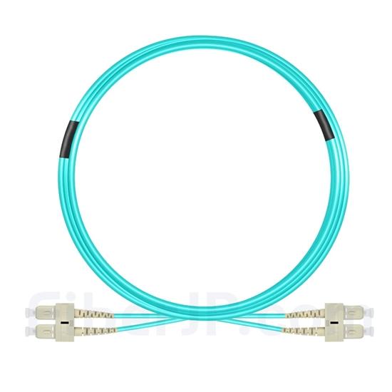7m SC/UPC-SC/UPC デュプレックス マルチモード 光パッチケーブル(3.0mm PVC/OFNR OM4)の画像