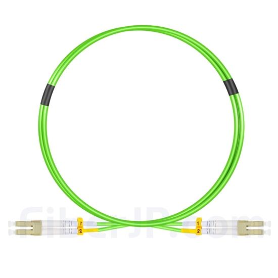 1m LC/UPC-LC/UPC デュプレックス マルチモード 広帯域 光パッチケーブル(2.0mm LSZH OM5)の画像