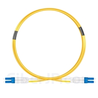 3m LC/UPC-LC/UPC デュプレックス シングルモード 光パッチケーブル(2.0mm PVC/OFNR OS2)の画像
