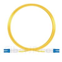 10m LC/UPC-LC/UPC デュプレックス シングルモード 光パッチケーブル(2.0mm PVC/OFNR OS2)の画像