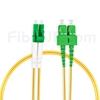 2m LC/APC-SC/APC デュプレックス シングルモード 光パッチケーブル(2.0mm PVC/OFNR OS2)の画像