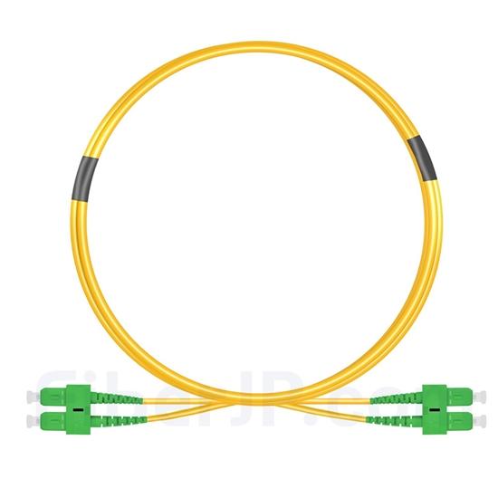 2m SC/APC-SC/APC デュプレックス シングルモード 光パッチケーブル(2.0mm PVC/OFNR OS2)の画像
