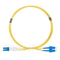 1m LC/UPC-SC/UPC デュプレックス シングルモード 光パッチケーブル(2.0mm OFNP OS2)の画像