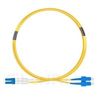 2m LC/UPC-SC/UPC デュプレックス シングルモード 光パッチケーブル(2.0mm OFNP OS2)の画像