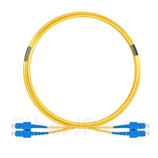 5m SC/UPC-SC/UPC デュプレックス シングルモード 光パッチケーブル(2.0mm OFNP OS2)の画像