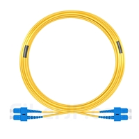 30m SC/UPC-SC/UPC デュプレックス シングルモード 光パッチケーブル(3.0mm PVC/OFNR 9/125)の画像